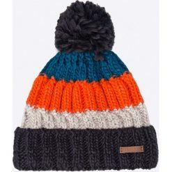 Barts - Czapka Wilhelm Beanie navy. Niebieskie czapki zimowe męskie marki Barts, na zimę, z dzianiny. W wyprzedaży za 99,90 zł.