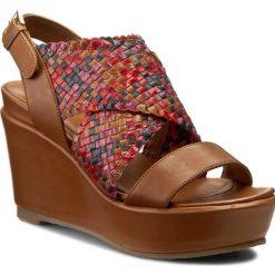 Rzymianki damskie: Sandały BRUNO PREMI – BY BPRIVATE Softy Intreccio E1108X Cuoio/Multicolore
