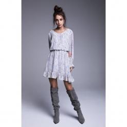 Naoko - Sukienka Charlotte. Szare sukienki mini marki NAOKO, l, z elastanu, casualowe. Za 219,90 zł.