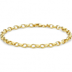 Złota bransoletka. Żółte bransoletki damskie na nogę Golden Moments, złote. W wyprzedaży za 319,95 zł.