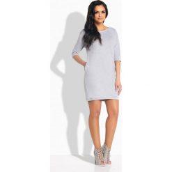 Sportowa sukienka z wiązaniem z tyłu jasnoszary LILLIAN. Szare sukienki hiszpanki Lemoniade, sportowe, dopasowane. Za 99,00 zł.