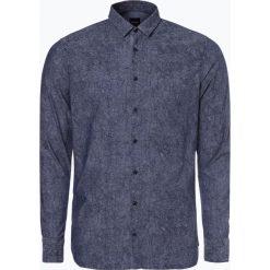 Koszule męskie na spinki: BOSS Casual – Koszula męska – Cattitude_1, niebieski
