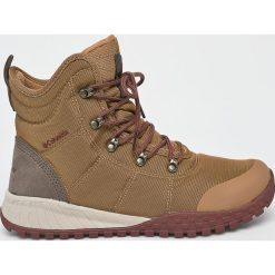 Columbia - Buty. Brązowe buty trekkingowe męskie Columbia, z materiału, na sznurówki, outdoorowe. W wyprzedaży za 399,90 zł.