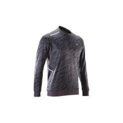 Bluza do biegania RUN WARM+ męska. Czerwone bluzy męskie marki KALENJI, m, z elastanu, z długim rękawem, długie. Za 69,99 zł.