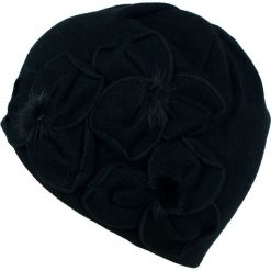 Czapka damska Eleganckie kwiaty czarna (cz13376). Czarne czapki zimowe damskie marki Art of Polo, w kwiaty. Za 70,68 zł.