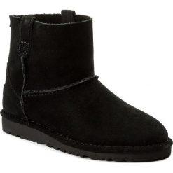 Buty UGG - W Classic Unlined Mini 1017532 Blk. Szare buty zimowe damskie marki Ugg, z materiału, z okrągłym noskiem. W wyprzedaży za 359,00 zł.