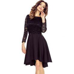 Sukienki balowe: CATERINA – sukienka koronkową górą czarny