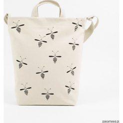 Naturalna torba na zakupy Pszczoły. Szare torby na ramię męskie Pakamera. Za 149,00 zł.
