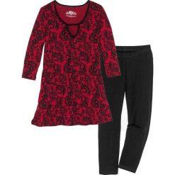 Piżama z legginsami 3/4 bonprix czarno-czerwony z nadrukiem. Czarne piżamy damskie bonprix, z nadrukiem. Za 79,99 zł.