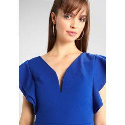 Sukienki hiszpanki: WAL G. PLUNGE NECKLINE WITH FLUTTER SLEEVES DRESS Sukienka koktajlowa cobalt blue