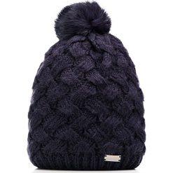 85-HF-003-7 Czapka damska. Niebieskie czapki damskie Wittchen, na zimę, z dzianiny. Za 59,00 zł.