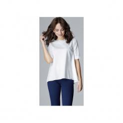 Bluzka L002 Ecru. Brązowe bluzki asymetryczne Lenitif, l, eleganckie. Za 119,00 zł.