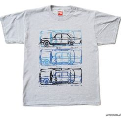 T-shirty męskie: koszulka MERCEDES W114 PUCHACZ GRAY tshirt