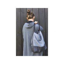 Torba hobo XXL - płócienna. Szare torebki klasyczne damskie Pracownia 166, z bawełny, duże. Za 149,00 zł.