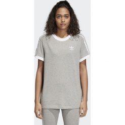 Koszulka adidas 3 stripes (CY4982). Szare bluzki damskie Adidas, z bawełny, z krótkim rękawem. Za 89,99 zł.