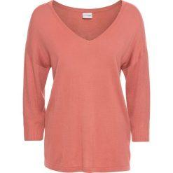 Swetry oversize damskie: Sweter bonprix dymny brzoskwiniowy