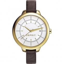 """Zegarek kwarcowy """"Lynn"""" w kolorze brązowo-srebrno-złotym. Brązowe, analogowe zegarki damskie Esprit Watches, ze stali. W wyprzedaży za 204,95 zł."""