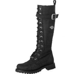 Buty zimowe damskie: Harley Davidson SAVANNAH Kozaki sznurowane black