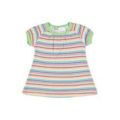 Pink or blue  Sukienka kolorowe paski. Niebieskie sukienki niemowlęce pink or blue, w kolorowe wzory, z bawełny. Za 35,00 zł.