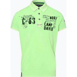 Camp David - Męska koszulka polo, zielony. Zielone koszulki polo Camp David, m, z haftami. Za 279,95 zł.