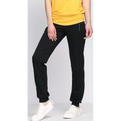 Spodnie damskie: Czarne Spodnie Dresowe Exit
