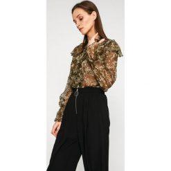 Answear - Koszula Garden of Dreams. Szare koszule wiązane damskie marki ANSWEAR, l, z poliesteru, casualowe, ze stójką, z długim rękawem. W wyprzedaży za 69,90 zł.