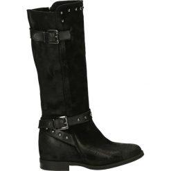 Kozaki - 3750 CAM NERO. Czarne buty zimowe damskie Venezia, ze skóry. Za 539,00 zł.