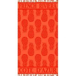 """Kąpielówki męskie: Fouta """"Cisele Azur"""" w kolorze pomarańczowo-czerwonym – 160 x 90 cm"""