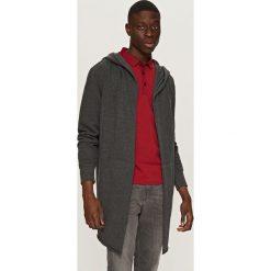 Bluzy męskie: Długa bluza z kapturem - Szary