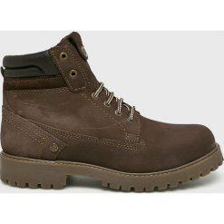 Wrangler - Buty Creek. Brązowe buty sportowe męskie Wrangler, z materiału, na sznurówki. Za 399,90 zł.