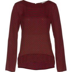 Bluzka z zamkiem bonprix czarno-ciemnoczerwony z nadrukiem. Czarne bluzki asymetryczne bonprix, z nadrukiem, z długim rękawem. Za 109,99 zł.