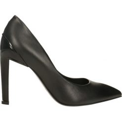 Czółenka ANET. Czarne buty ślubne damskie Gino Rossi, ze skóry, na wysokim obcasie, na szpilce. Za 249,90 zł.