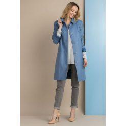 Płaszcze damskie pastelowe: Płaszcz z połyskującą nitką