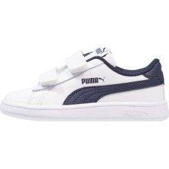 Puma SMASH V2 L V INF Tenisówki i Trampki white/peacoat. Czarne trampki chłopięce marki Puma. Za 129,00 zł.