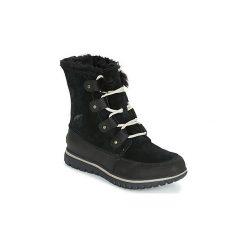 Śniegowce Sorel  COZY JOAN. Czarne buty zimowe damskie Sorel. Za 503,99 zł.