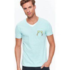 T-SHIRT KRÓTKI RĘKAW MĘSKI. Szare t-shirty męskie marki Top Secret, na lato, m. Za 19,99 zł.