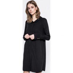 Answear - Sukienka UR Your Only Limit. Czarne długie sukienki ANSWEAR, na co dzień, l, z tkaniny, casualowe, z długim rękawem, proste. W wyprzedaży za 89,90 zł.