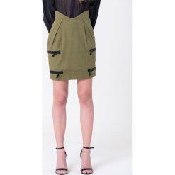 Minispódniczki: Spódnica w kolorze khaki