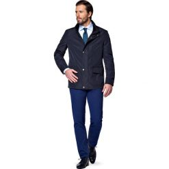 Kurtka Granatowa Clifden. Niebieskie kurtki męskie marki LANCERTO, m, biznesowe. W wyprzedaży za 399,90 zł.