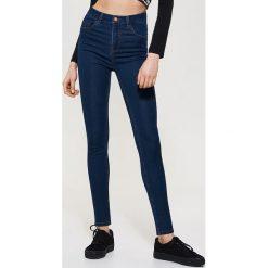 Jeansy high waist skinny - Granatowy. Niebieskie jeansy damskie skinny House, z jeansu, z podwyższonym stanem. Za 79,99 zł.