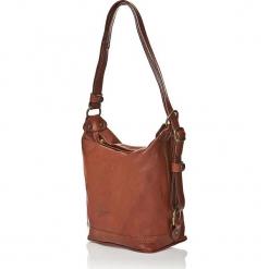 Skórzana torebka w kolorze brązowym - 25 x 21 x 15 cm. Brązowe torebki klasyczne damskie I MEDICI FIRENZE, w paski, z materiału. W wyprzedaży za 347,95 zł.