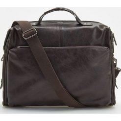 Torba na ramię - Brązowy. Brązowe torby na ramię męskie Reserved, na ramię. Za 179,99 zł.