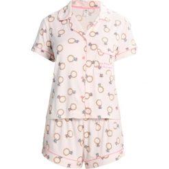 Piżamy damskie: Chelsea Peers BLING SHIRT  Piżama rose