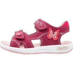 Superfit EMILY Sandały masala. Fioletowe sandały chłopięce marki Superfit, z materiału, z otwartym noskiem. W wyprzedaży za 194,35 zł.
