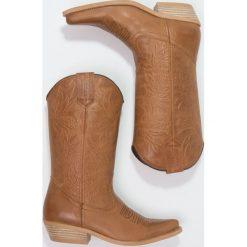 Kentucky's Western Kowbojki i Buty motocyklowe brown. Brązowe kowbojki damskie marki Kentucky's Western, z materiału. W wyprzedaży za 439,20 zł.