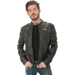 Odzież damska: Skórzana kurtka w kolorze czarnym