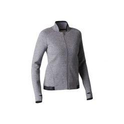 Bluza na zamek Gym & Pilates 900 damska. Czarne bluzy polarowe marki DOMYOS. Za 84,99 zł.