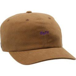 Czapki męskie: Obey Clothing CUTTY 6 PANEL SNAPBACK  Czapka z daszkiem bone brown
