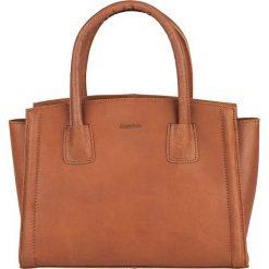 Torebki klasyczne damskie: Skórzana torebka w kolorze szarobrązowym – 30 x 23 x 12 cm
