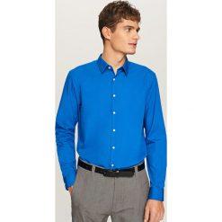 Elegancka koszula z tkaniny poplin - Niebieski. Niebieskie koszule męskie marki Reserved, l. Za 79,99 zł.